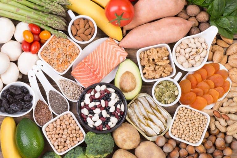 Cibi di un'alimentazione sana