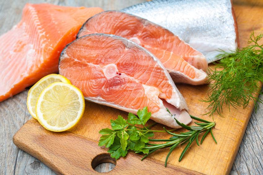 Tranci di pesce al salmone