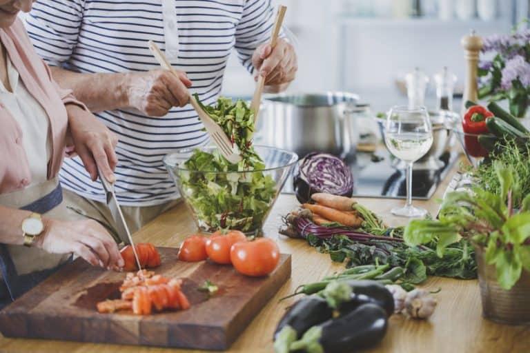 Preparazione di cibo sano