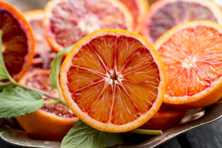 Immagine affettata arancione