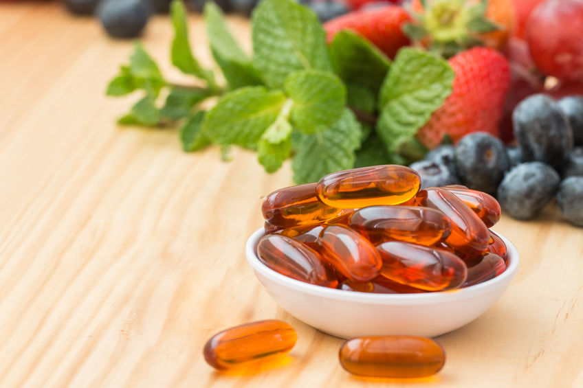 Lecithin gel vitamin supplement capsules