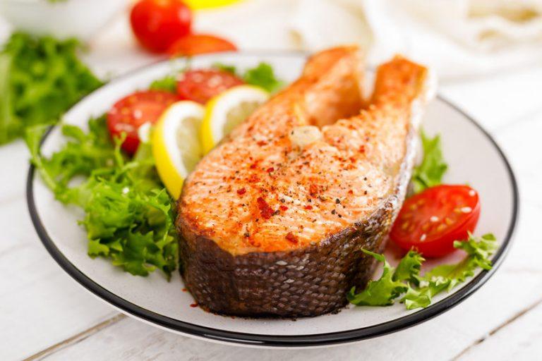 Piatto con salmone