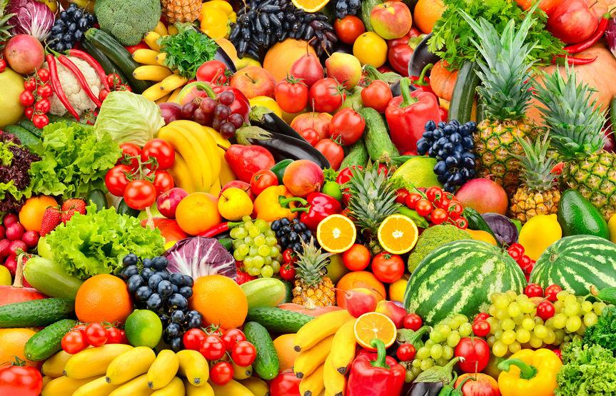 Frutta e verdura in abbondanza