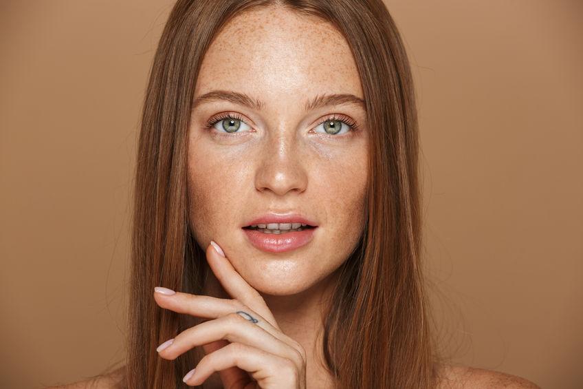 Primo piano su un viso femminile