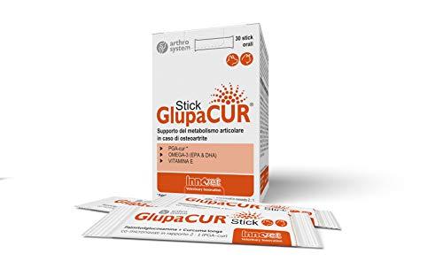 Innovet Glupacur, Supporto del metabolismo articolare in caso di osteoartrite per cani e gatti - Confezione da 30 stick orali