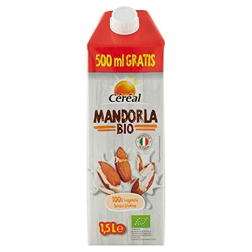 Céréal Bevanda Mandorla Bio, Latte Di Mandorla Senza Lattosio E Senza Glutine, Da Agricoltura Biologica Italiana, 1,5L