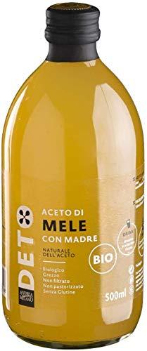 Aceto di Mele Biologico con Madre Non Filtrato Non Pastorizzato Deto Andrea Milano - 500 ml