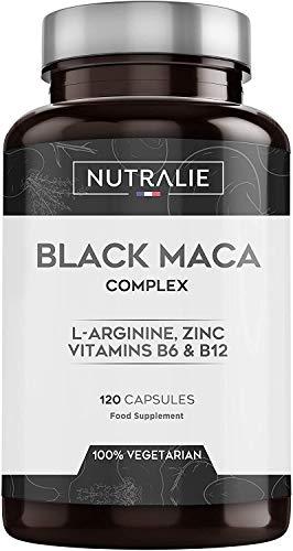 Maca Nera Peruviana Equivalente 24.000 Mg Dose 1.200 Mg L-arginina, Zinco e Vitamine 120 Capsule Vegetali Nutralie