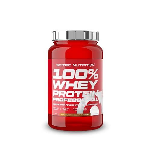 Scitec Nutrition 100% Whey Protein Professional con aminoacidi chiave extra e enzimi digestivi, senza glutine, 920 g, Cioccolato e Nocciola