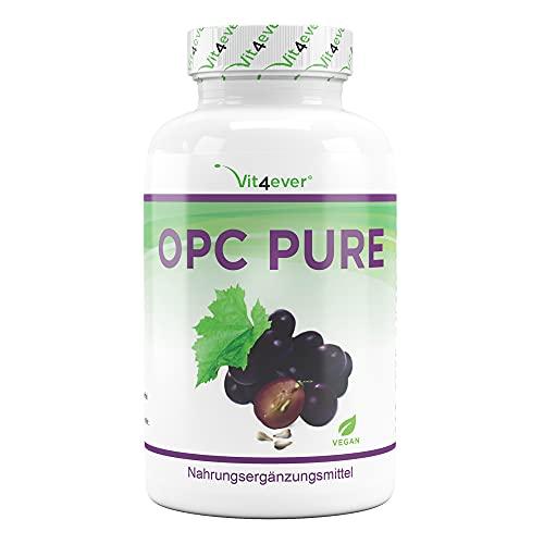 OPC Grape Seed Extract - 300 capsule - 900 mg di estratto puro per dose giornaliera - OPC premium da uve europee con reale contenuto di OPC - Vegan - Altamente dosato