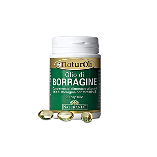 Naturando Olio di Borragine 70 Perle per la Bellezza della Pelle e Contro i Disturbi del Ciclo Mestruale