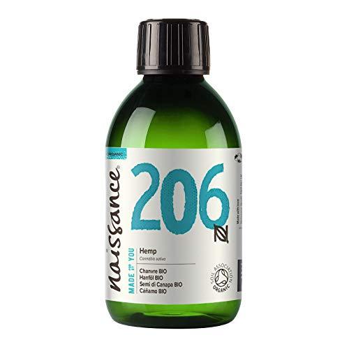 Naissance Olio di Semi di Canapa Pressato a Freddo Biologico 250ml – Certificato Biologico, Vegan, Non Raffinato. Ricco in Omega 3, 6 e 9