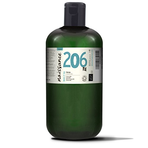 Naissance Olio di Semi di Canapa Pressato a Freddo Biologico 1L – Certificato Biologico, Vegan, Non Raffinato. Ricco in Omega 3, 6 e 9