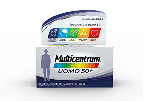 Multicentrum Uomo 50+ Integratore Alimentare Multivitaminico-Multiminerale, con Vitamina D, Specificatamente Formulato per Combattere Stanchezza e Affaticamento per Uomini oltre 50 anni | 60 Compresse