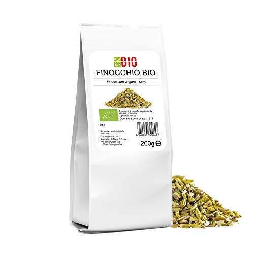 Finocchio semi Bio 200 g 100% Naturale - Tisane Infusi uso in Cucina - LaborBio