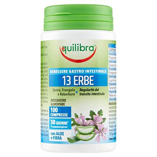 Equilibra Integratore Alimentare Transito Intestinale 13 Erbe con Fibra, 100 Compresse