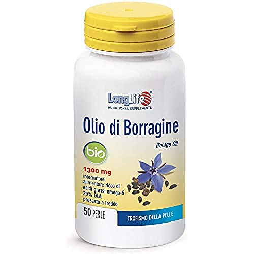Longlife Olio di Borragine Bio 1300 Mg - 90 Gr