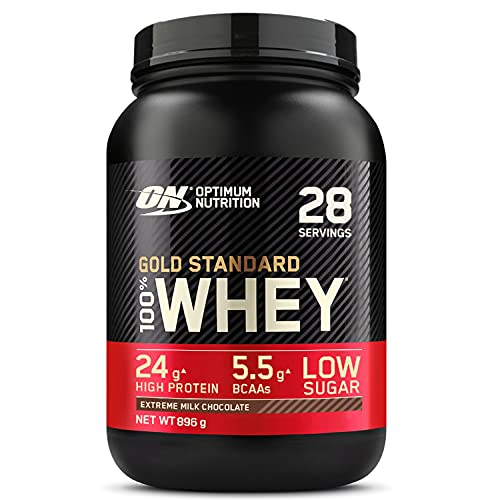 Optimum Nutrition Gold Standard 100% Whey Proteine in Polvere con Proteine Isolate ed Aminoacidi per la Massa Muscolare, Cioccolato al Latte, 28 Porzioni, 896g, il Packaging Potrebbe Variare