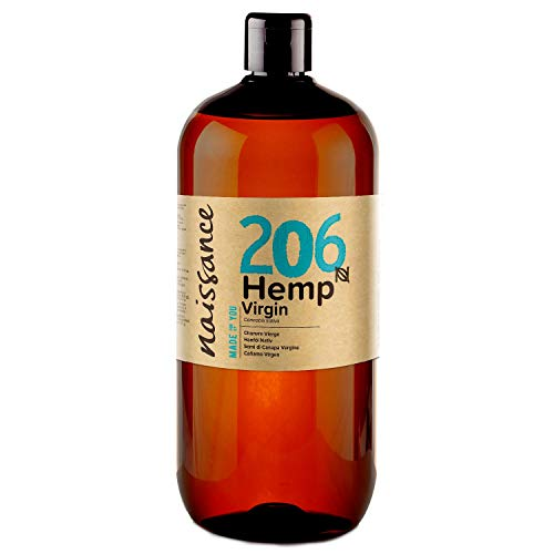 Naissance Olio di Semi di Canapa Pressato a Freddo 1L - Puro e Naturale, Non Raffinato e Vegan