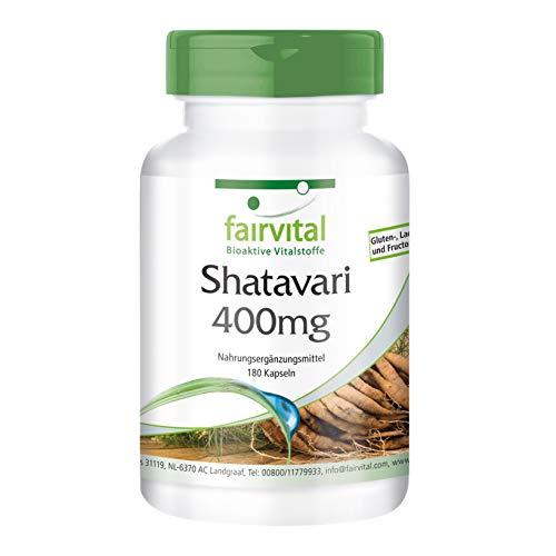 Shatavari 400mg - per 45 giorni - VEGAN - alto dosaggio - 180 capsule - Asparagi racemosus - asparagi indiana